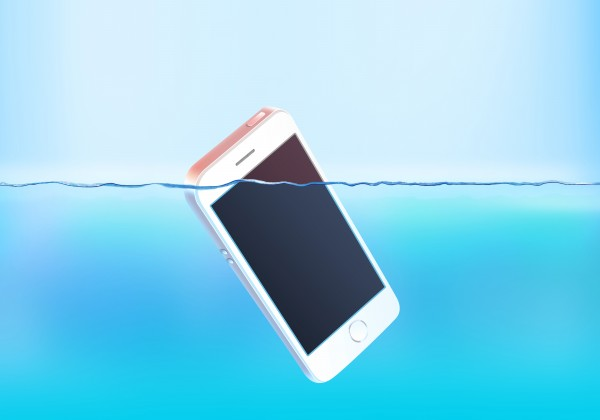 blank-white-phone-screen-sink-water-surface